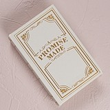 Vintage-Inspired 'A Promise Made' Library Book Replica Ring Box
