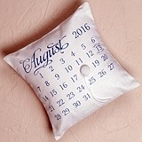 """Notable"" Personalized Ring Pillow with Wedding Date Design"