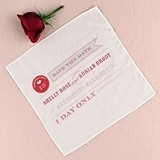 Play Bill Design 'Save The Date' Personalized Wedding Handkerchief