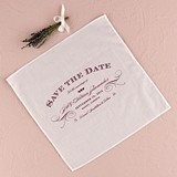 Elegant Type Design 'Save The Date' Personalized Wedding Handkerchief