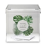 Personalized Acrylic Phantom Wishing Well Box with Greenery Printing