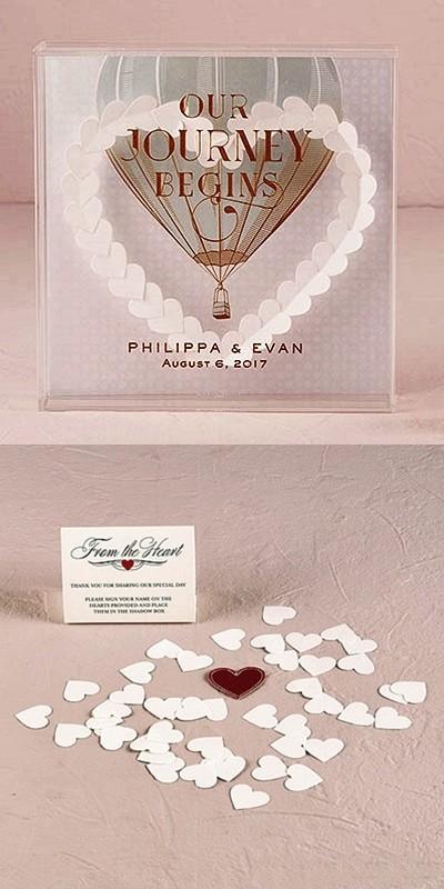 Hot Air Balloon Design Vintage Travel-Themed Shadow Box Wishing Well