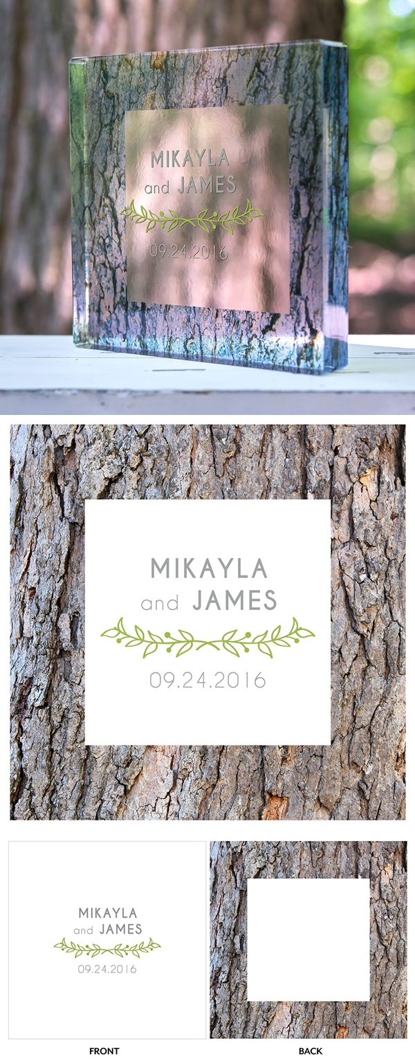 """Woodland Pretty"" Personalized Acrylic Cake Topper"