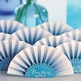 Weddingstar Ombre-Motif Paper Fan-Shaped Place Cards (Set of 12)