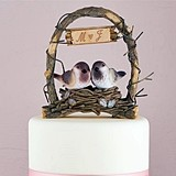 Weddingstar Personalized Nestled Love-Birds in an Archway Cake Topper