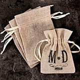 Weddingstar Mini Plain Linen Drawstring Pouches (Set of 12)