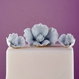 Weddingstar White Porcelain Bisque Poppy Blooms Cake Topper