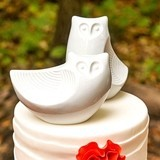 Weddingstar Porcelain Owl Pair Figurines/Cake Topper