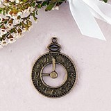 Weddingstar Clock Charms with Antique Brass Finish (Set of 12)