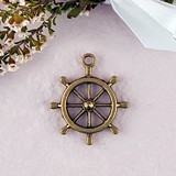 Weddingstar Boat Wheel Charms with Antique Brass Finish (Set of 12)