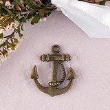 Weddingstar Anchor Charms with Antique Brass Finish (Set of 12)