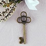 Weddingstar Intertwined Rings Style Antique Key Charms (Package of 12)