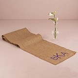 Weddingstar 'Geo Marble' Personalized Burlap Table Runner (2 Colors)