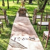 Burlap Personalized Aisle Runner with Horse Country Theme Monogram