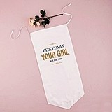 "Personalized ""Art Deco Posh"" Linen Ceremony Banner"