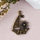 Weddingstar Sail Boat Charms with Antique Brass Finish (Set of 12)
