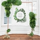 Weddingstar Greenery Motif Small Personalized Photo Backdrop/Sign