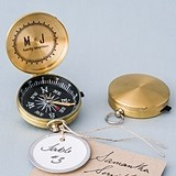 "Personalized ""Free Spirit"" Brass Compass Favor (Set of 6)"