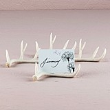 Miniature Faux Antler Stationery/Place Card Holders (Set of 6)