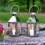 Weddingstar Stainless Steel Lantern with Stylish Glass Panels
