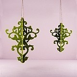 Large Classical Green Decorative Artificial Moss Chandelier