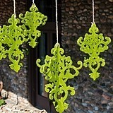 Small Classical Green Decorative Artificial Moss Chandelier