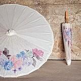 Weddingstar Vintage Floral Print Paper Parasol