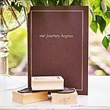"""""""Our Journey Begins"""" Travel-Inspired Guest Book Alternative"""