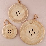 Charming Wooden Button Decoration with Natural Finish (3 Sizes)