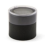 Black Art Deco Print Cylinder Boxes with Clear Lids (Set of 6)