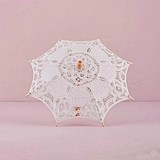 Weddingstar Vintage-Inspired White Battenburg Lace Parasol - Small