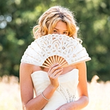 Weddingstar Vintage-Inspired Antique White Lace Hand Fan