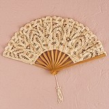 Weddingstar Vintage-Inspired Antique Ivory-Colored Lace Hand Fan