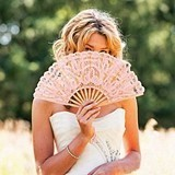 Weddingstar Vintage Pink Lace Hand Fan