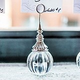Ornamental Ribbed Orb Stationery/Place Card Holders (Set of 6)