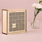 Weddingstar Cubist Laser-Cut Natural Wood Keepsake Box/Wishing Well