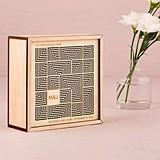 Weddingstar Cubist Laser-Cut Natural Wood Keepsake Box/Wishing Well