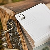 Cubist Laser-Embossed Stationery/Well Wishes Cards (Set of 50)