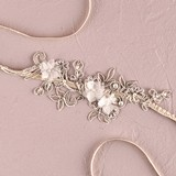Weddingstar Embroidered Applique Bridal Garter with Lace & Rhinestones