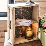 Vintage-Inspired Distressed-Style Display Drawer With Shelf