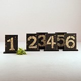 Rustic Standing Table Numbers with Holders (Numbers 1 - 18) (Set of 6)