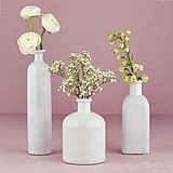 Weddingstar Elegant White Glass Bottle Decor Set (Set of 3)