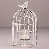 Weddingstar Small Metal Birdcage with Suspended Tealight Holder