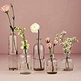 Weddingstar Decorative Glass Bottle Set (3 Colors) (Set of 6)