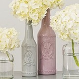 Vintage-Inspired Ceramic Bottle w/ Lavender Motif (2 Colors) (2 Sizes)
