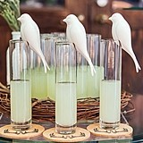 "Weddingstar ""Perching"" White Ceramic Birds (Set of 4)"