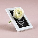 Miniature Framed Chalkboard with Glass Flower Holder (Set of 6)
