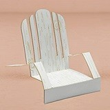 Laser Expressions White Cardstock Adirondack Deck Chairs (Set of 12)