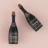 Wedding Bubbles in Miniature Faux Champagne Bottles (Set of 24)