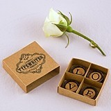 LOVE Vintage Typewriter Key Magnets with Gift-Box (Box of 4 Magnets)